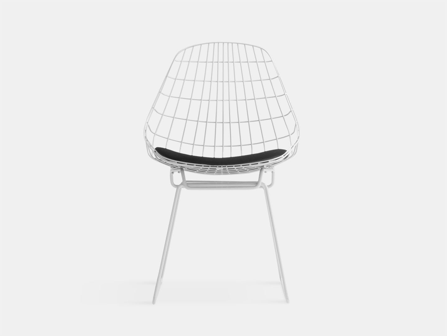 Pastoe SM05 chair paper white black fabric seat Cees Braakman