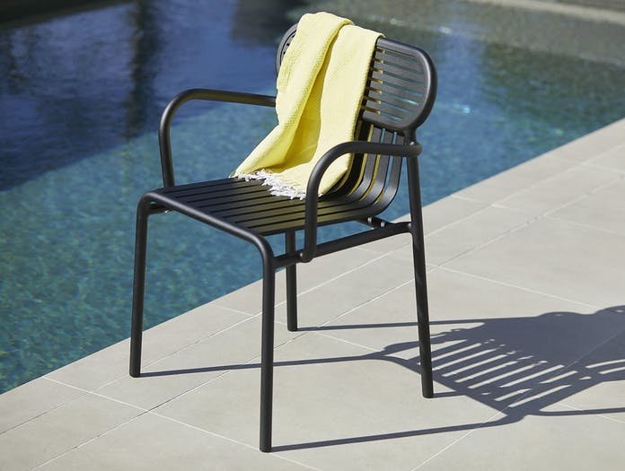 Petite Friture Week End Outdoor Armchair black 2 Studio Brichet Ziegler