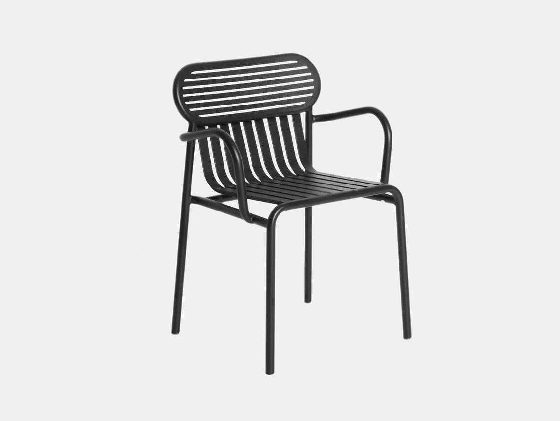 Petite Friture Week End Outdoor Armchair black Studio Brichet Ziegler