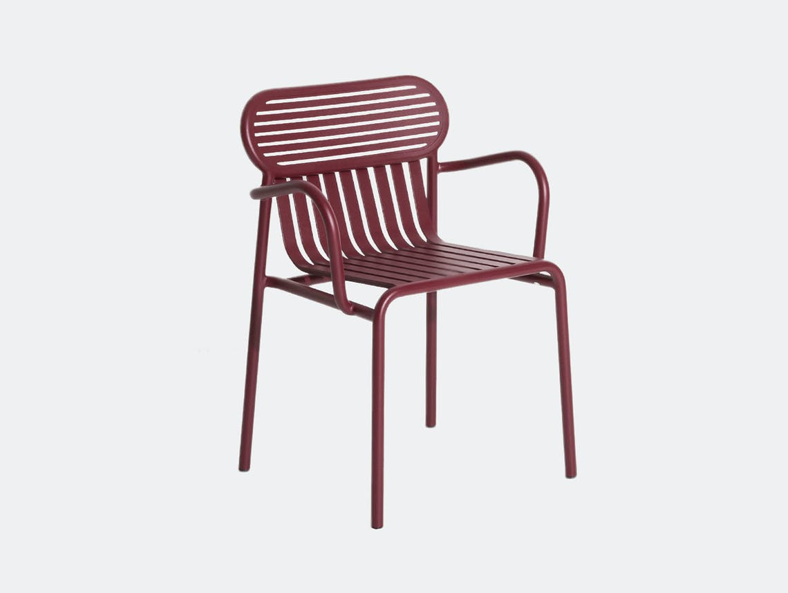 Petite Friture Week End Outdoor Armchair bordeaux Studio Brichet Ziegler