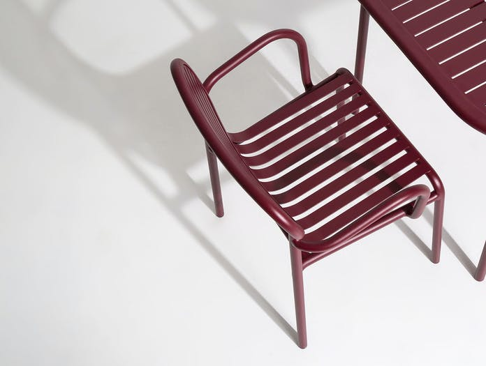 Petite Friture Week End Outdoor Armchair bordeaux detail Studio Brichet Ziegler