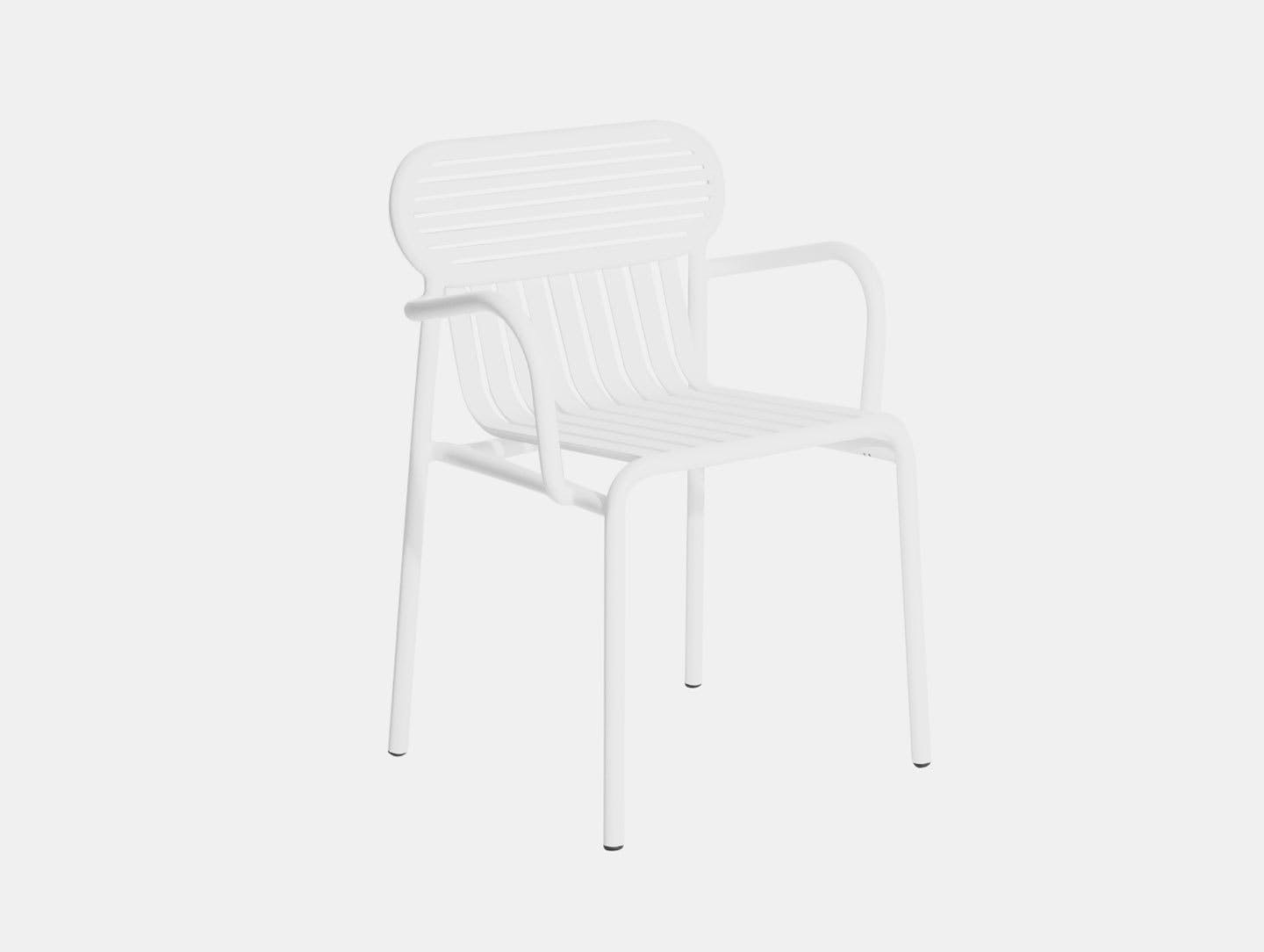 Petite Friture Week End Outdoor Armchair white Studio Brichet Ziegler