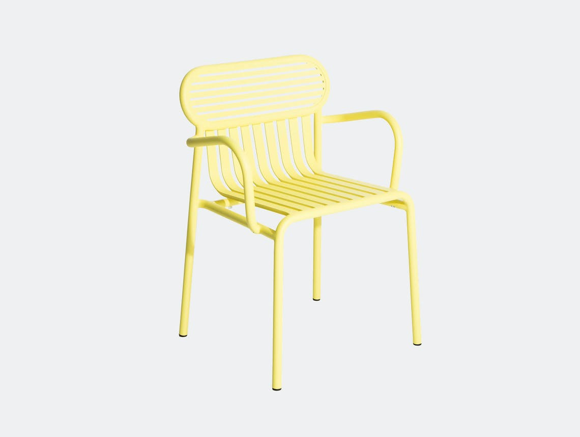 Petite Friture Week End Outdoor Armchair yellow Studio Brichet Ziegler