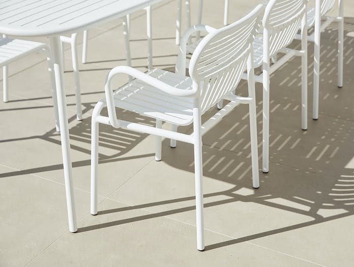 Petite Friture Week End Outdoor Armchairs white Studio Brichet Ziegler