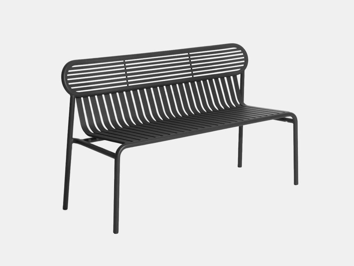 Petite Friture Week End Outdoor Bench Black Studio Brichet Ziegler