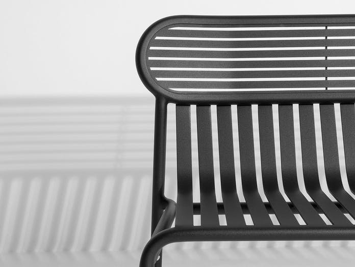 Petite Friture Week End Outdoor Bench Black detail Studio Brichet Ziegler