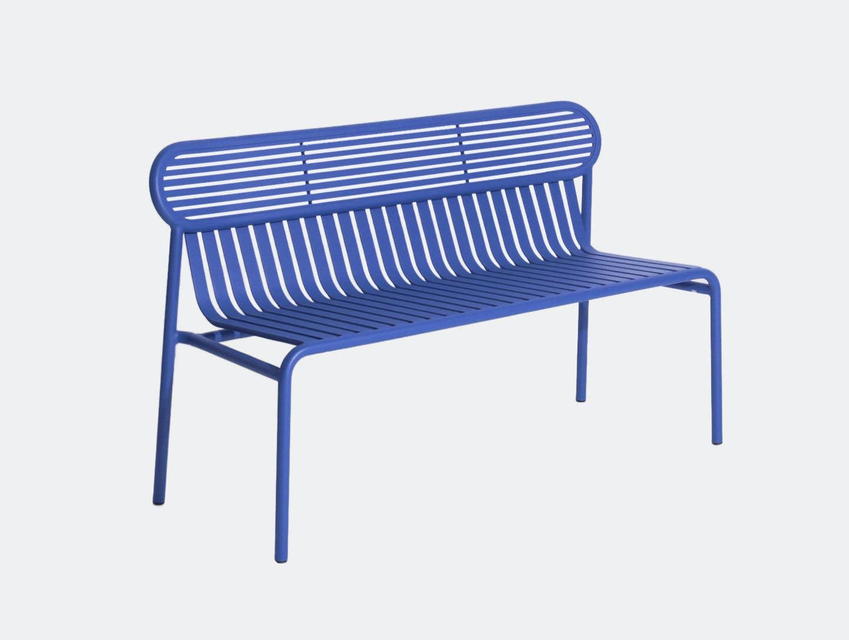Petite Friture Week End Outdoor Bench Blue Studio Brichet Ziegler