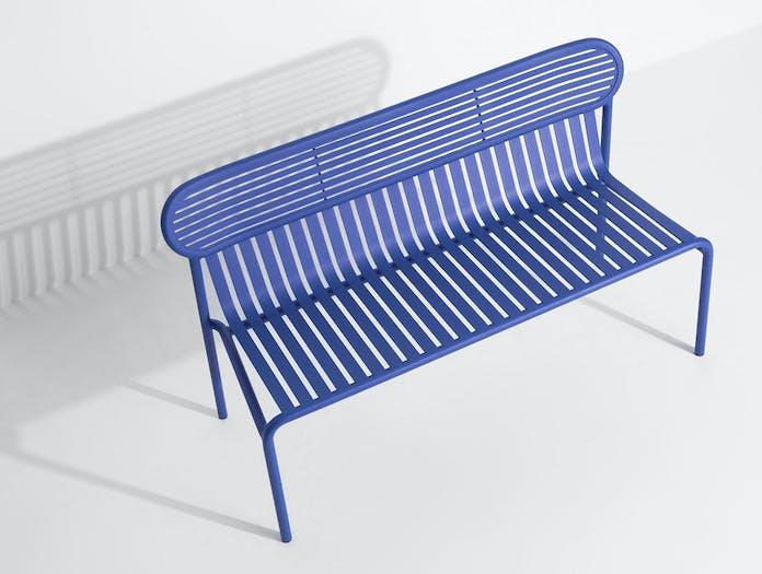 Petite Friture Week End Outdoor Bench Blue seat detail Studio Brichet Ziegler