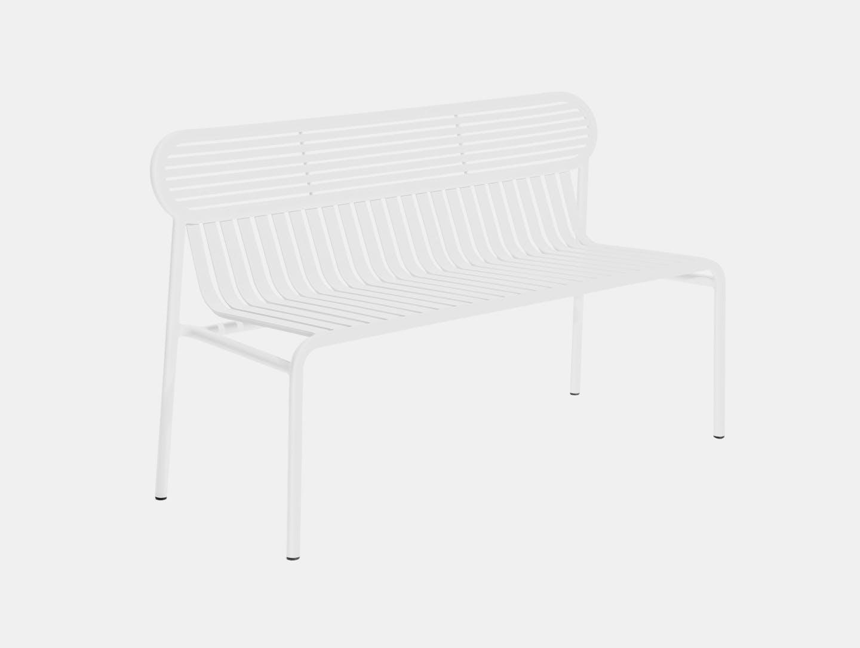 Petite Friture Week End Outdoor Bench White Studio Brichet Ziegler