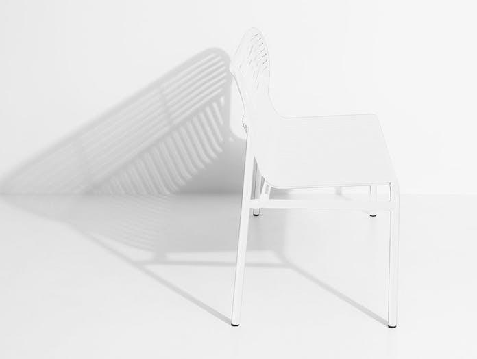Petite Friture Week End Outdoor Bench White end Studio Brichet Ziegler