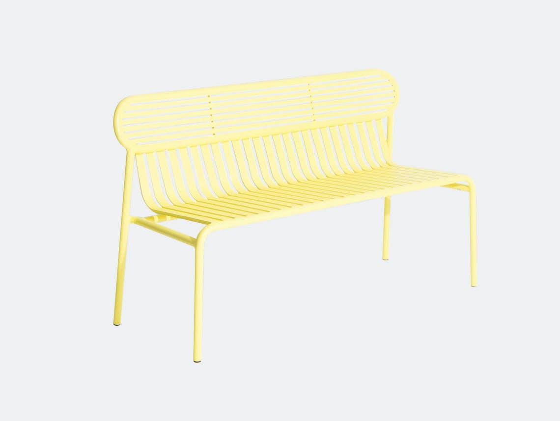 Petite Friture Week End Outdoor Bench Yellow Studio Brichet Ziegler