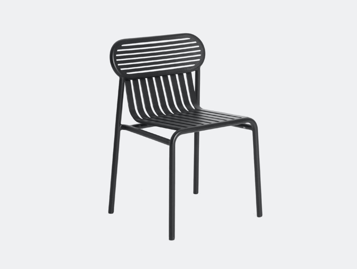Petite Friture Week End Outdoor Side Chair black Studio Brichet Ziegler
