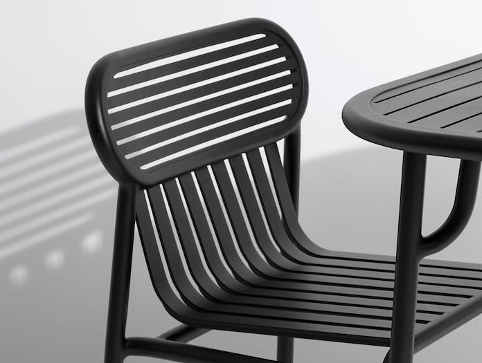 Petite Friture Week End Outdoor Side Chair black detail 2 Studio Brichet Ziegler