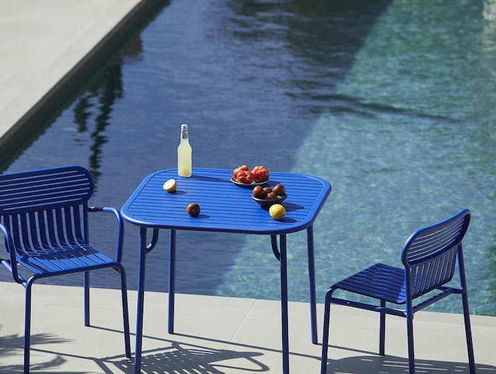Petite Friture Week End Outdoor Side Chair blue 2 Studio Brichet Ziegler