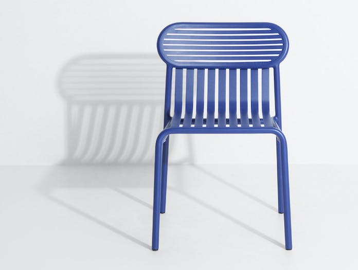 Petite Friture Week End Outdoor Side Chair blue 3 Studio Brichet Ziegler