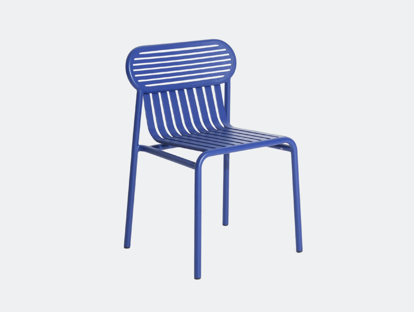 Petite Friture Week End Outdoor Side Chair blue Studio Brichet Ziegler