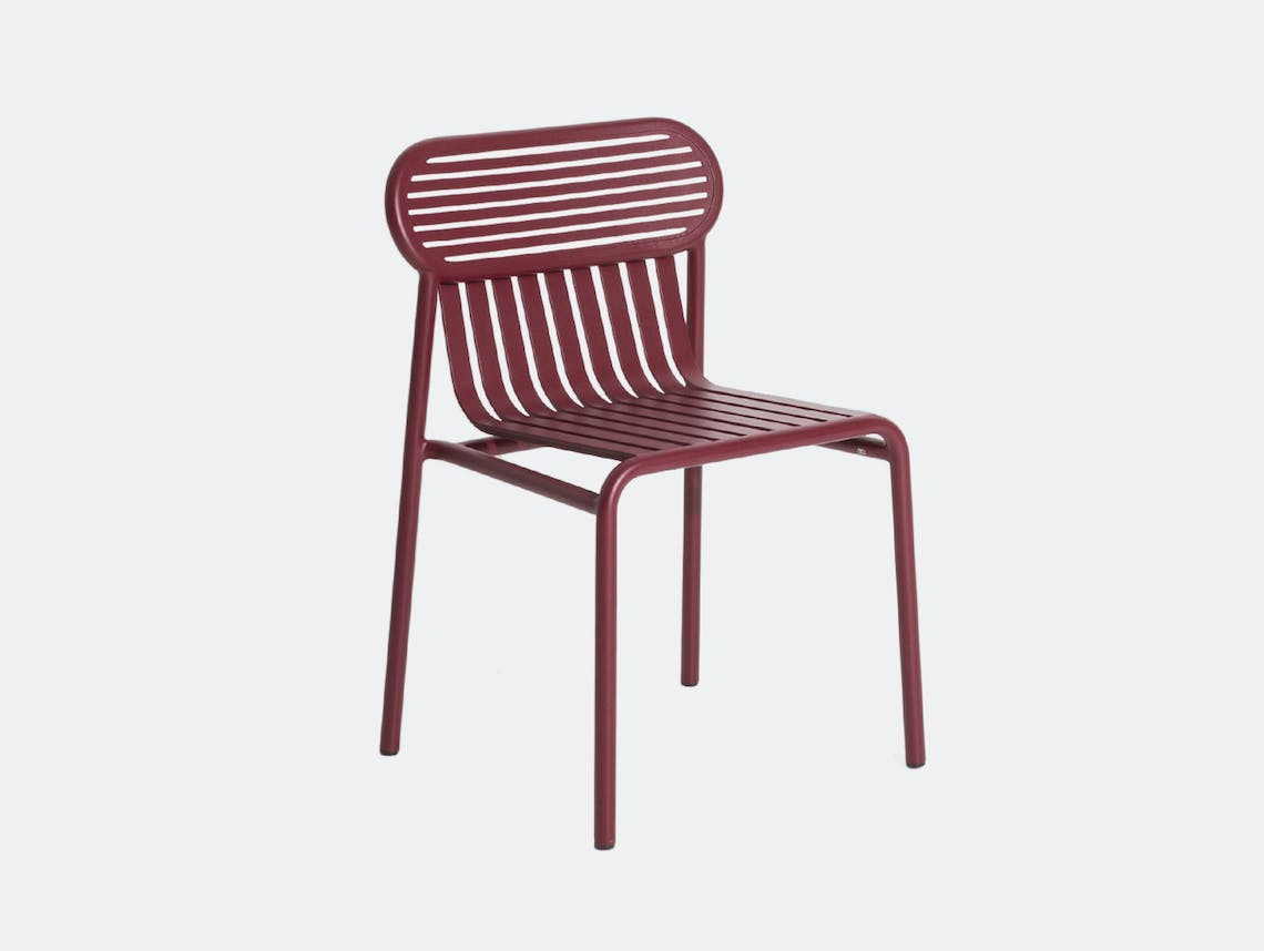 Petite Friture Week End Outdoor Side Chair bordeaux Studio Brichet Ziegler
