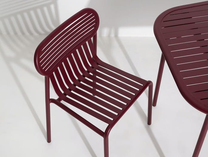 Petite Friture Week End Outdoor Side Chair bordeaux detail Studio Brichet Ziegler