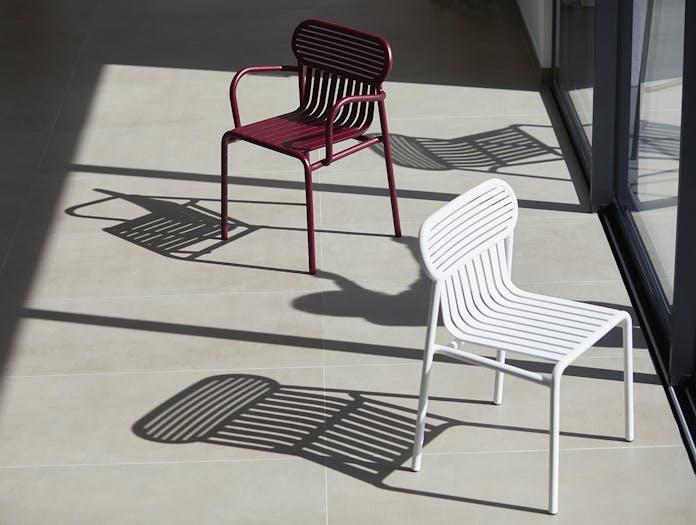 Petite Friture Week End Outdoor Side Chair white 2 Studio Brichet Ziegler
