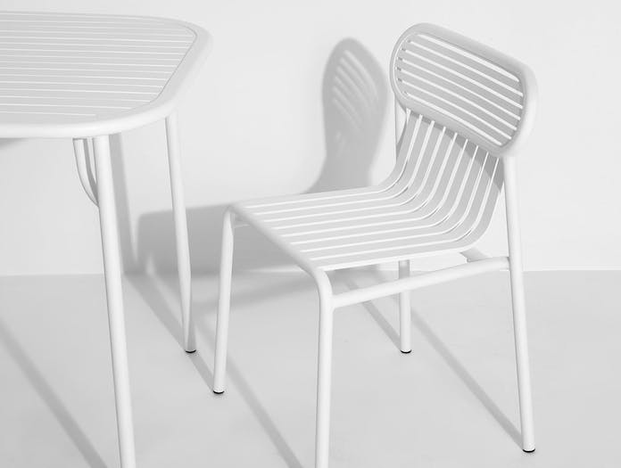 Petite Friture Week End Outdoor Side Chair white 3 Studio Brichet Ziegler