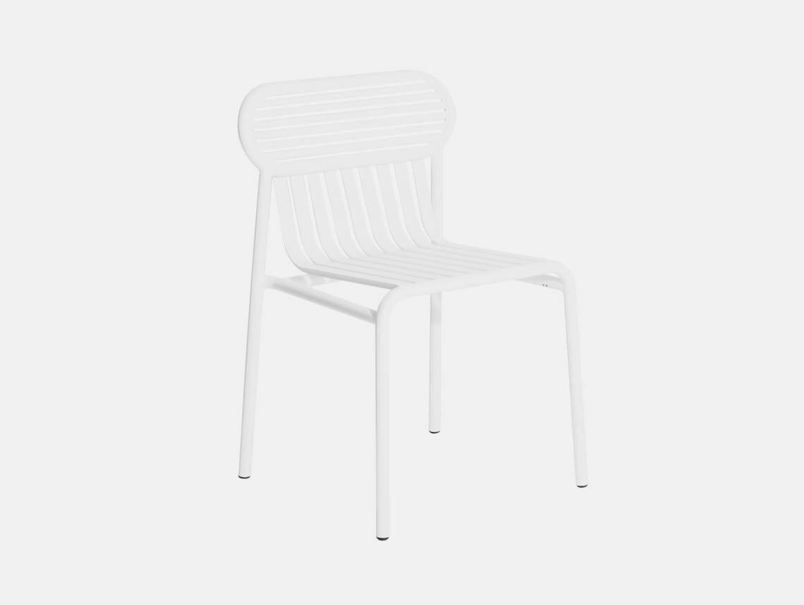 Petite Friture Week End Outdoor Side Chair white Studio Brichet Ziegler