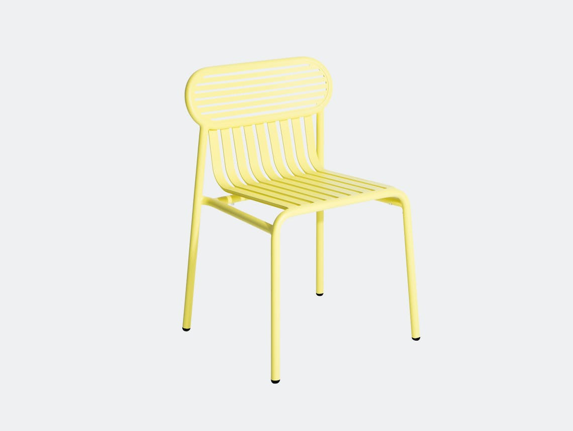 Petite Friture Week End Outdoor Side Chair yellow Studio Brichet Ziegler