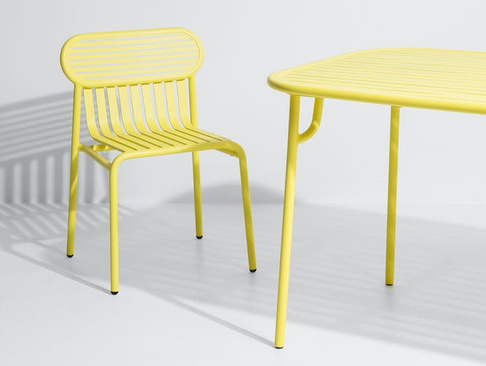 Petite Friture Week End Outdoor Side Chair yellow detail Studio Brichet Ziegler