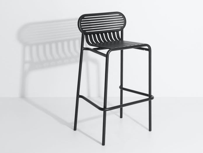 Petite Friture Week End Outdoor Stool black 2 Studio Brichet Ziegler
