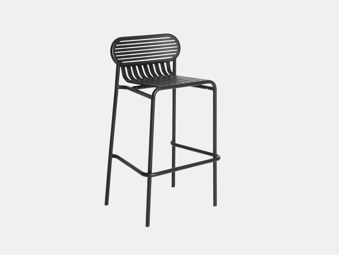 Petite Friture Week End Outdoor Stool black Studio Brichet Ziegler