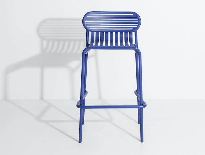 Petite Friture Week End Outdoor Stool blue 2 Studio Brichet Ziegler