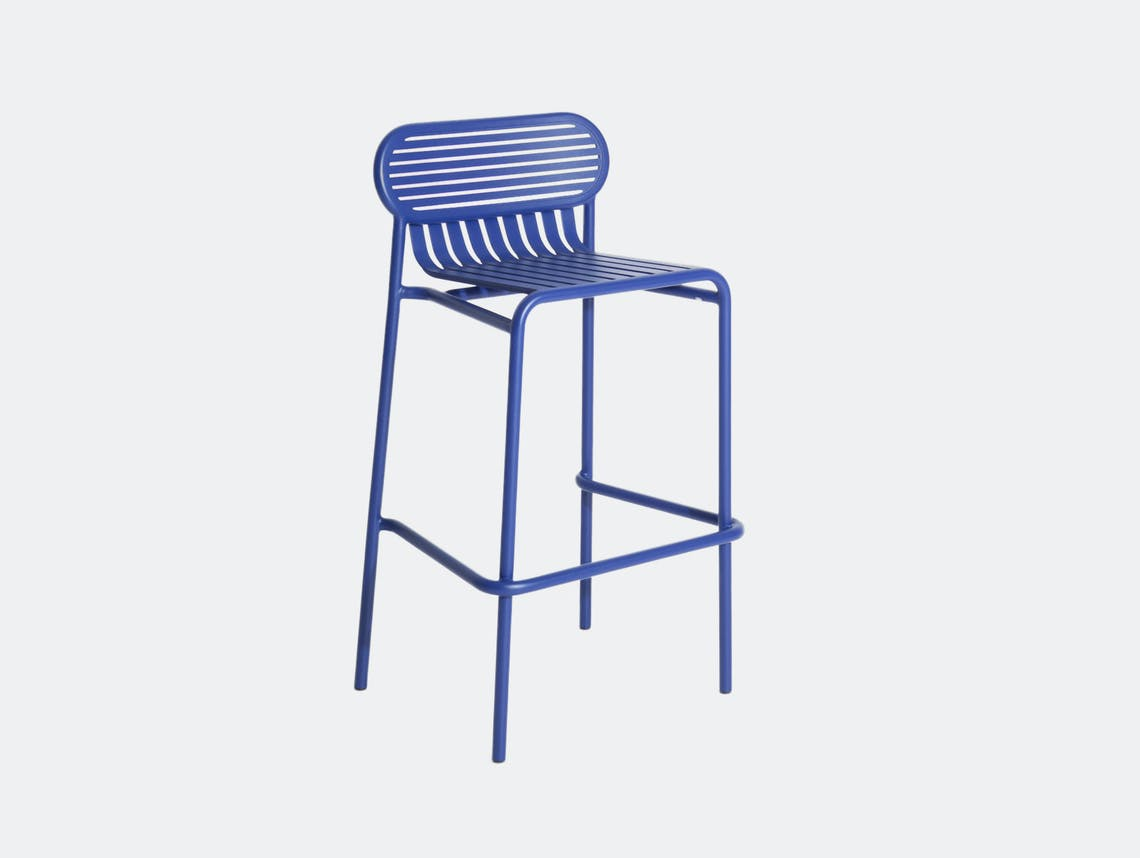 Petite Friture Week End Outdoor Stool blue Studio Brichet Ziegler