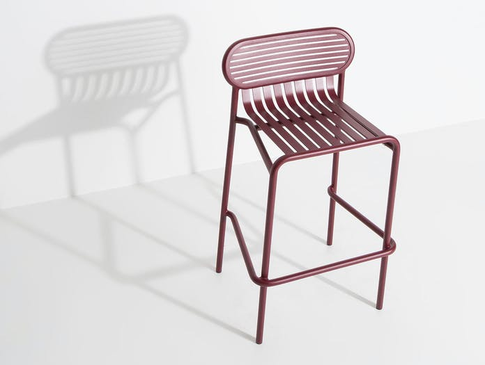 Petite Friture Week End Outdoor Stool red 2 Studio Brichet Ziegler