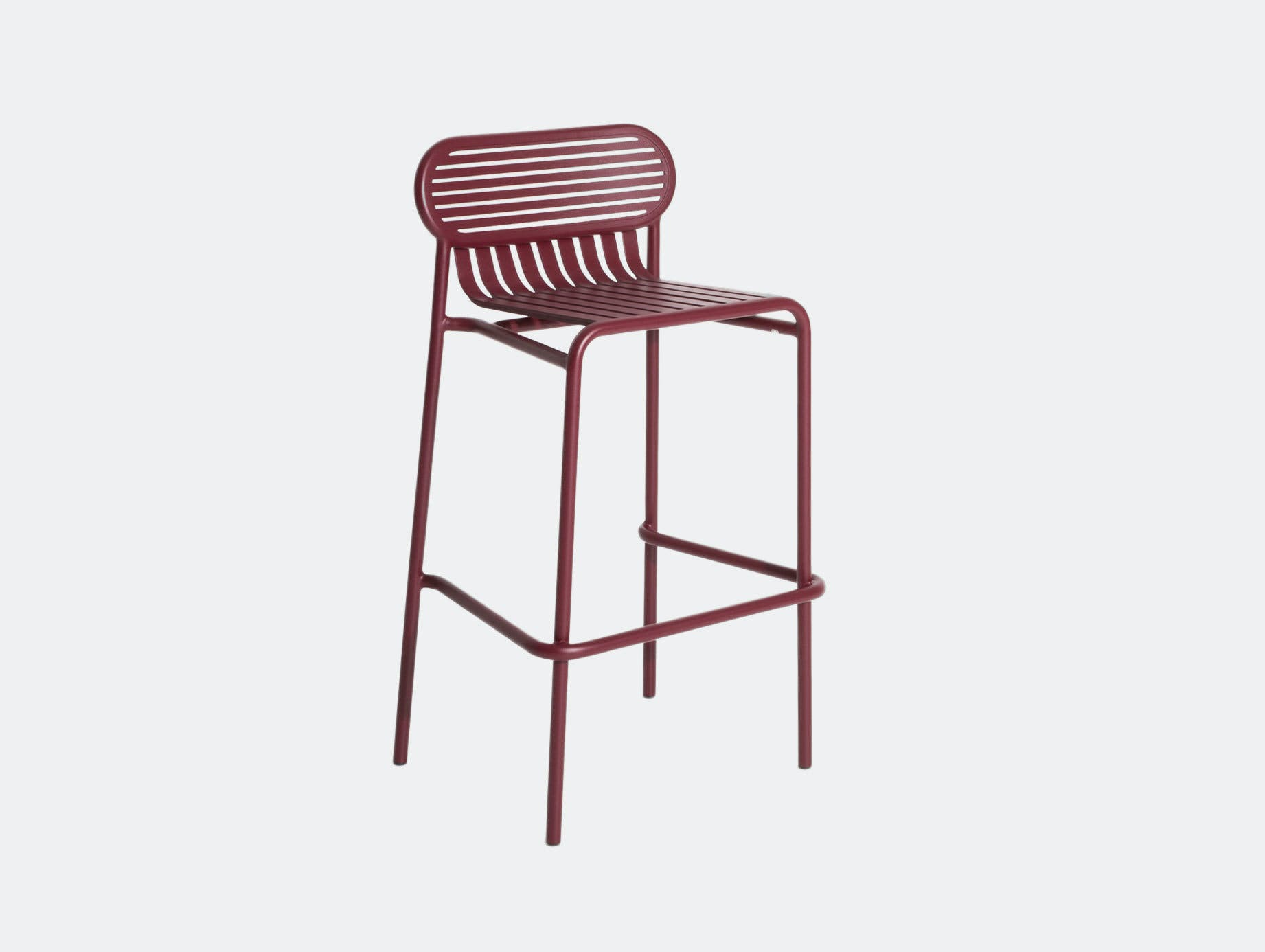 Petite Friture Week End Outdoor Stool red Studio Brichet Ziegler