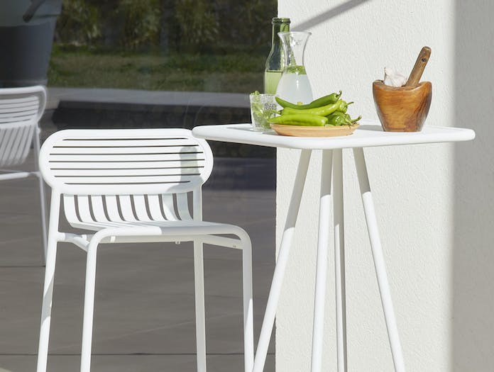 Petite Friture Week End Outdoor Stool white 1 Studio Brichet Ziegler