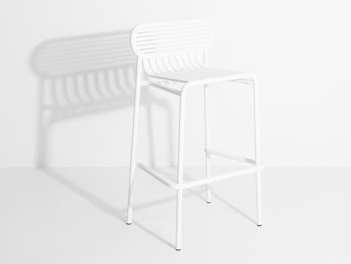 Petite Friture Week End Outdoor Stool white 2 Studio Brichet Ziegler