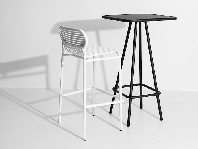 Petite Friture Week End Outdoor Stool white High Table black Studio Brichet Ziegler