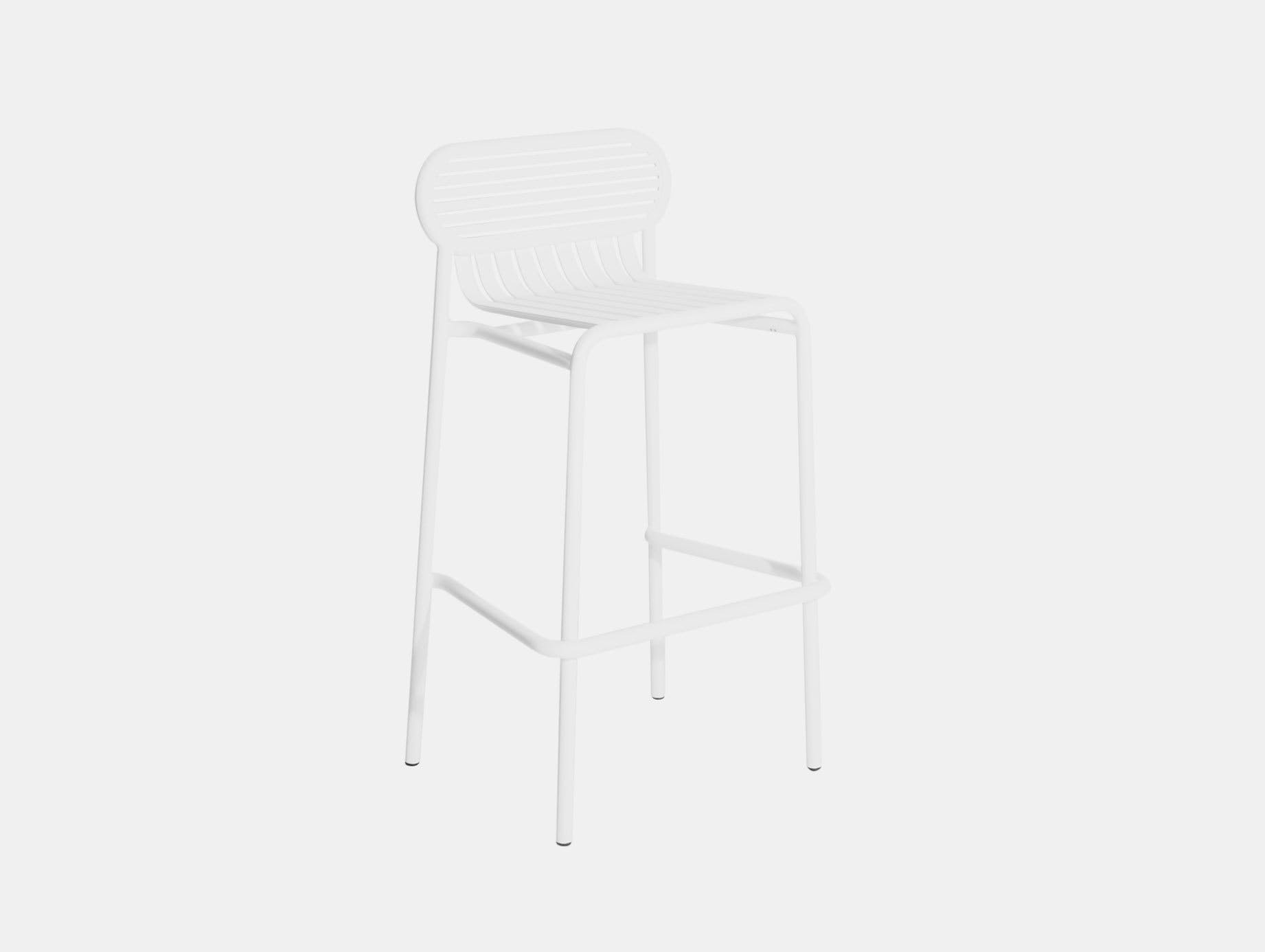 Petite Friture Week End Outdoor Stool white Studio Brichet Ziegler