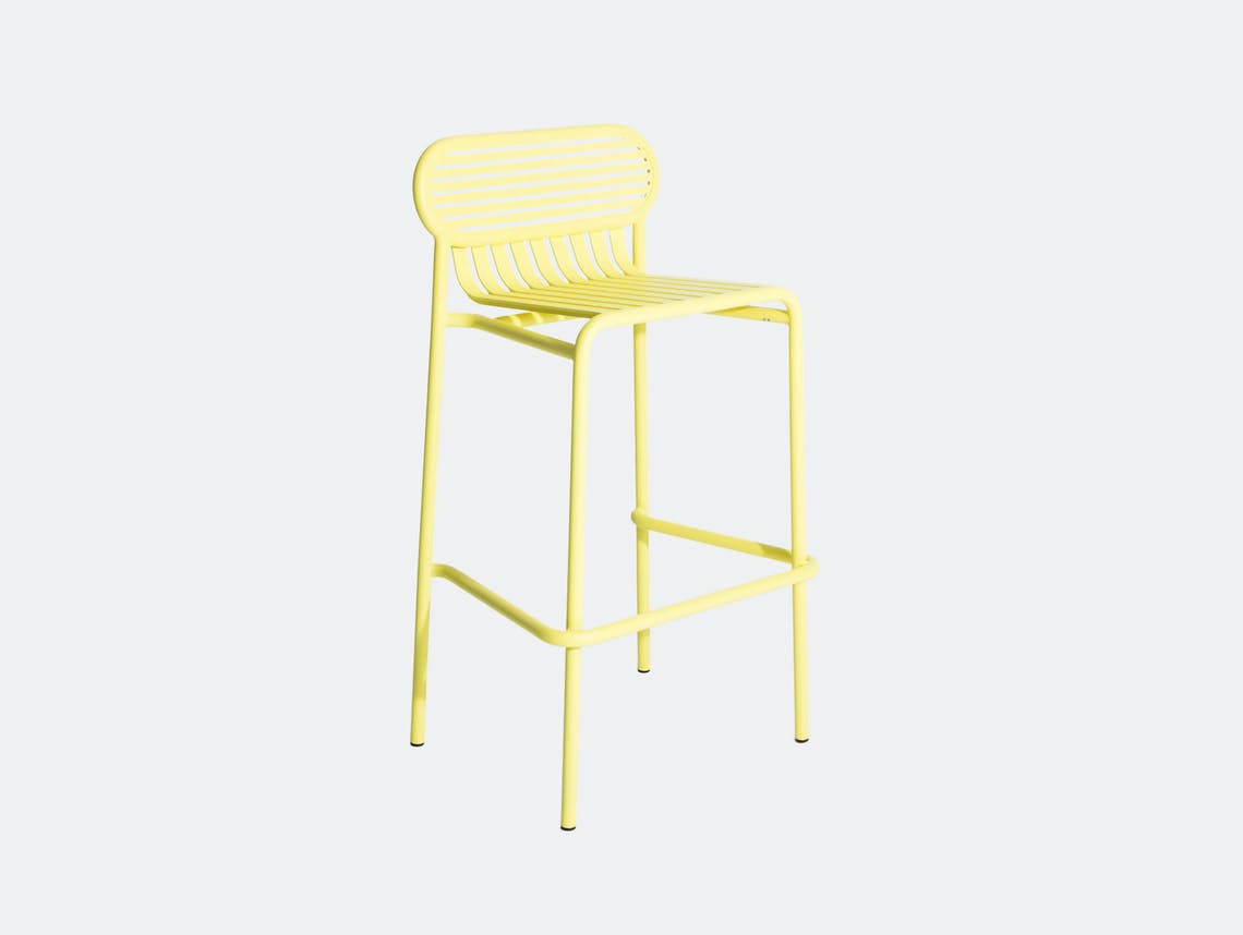 Petite Friture Week End Outdoor Stool yellow Studio Brichet Ziegler