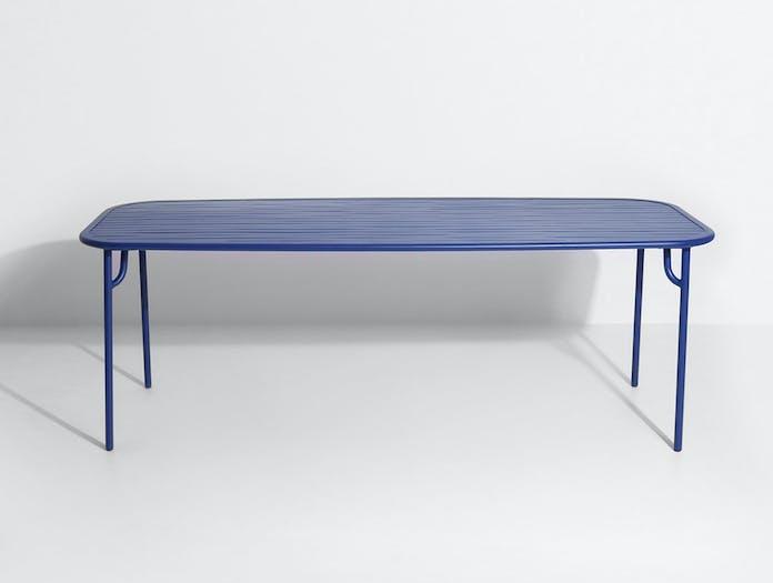 Petite Friture Week end Outdoor Dining Table blue 4 Studio Brichet Ziegler