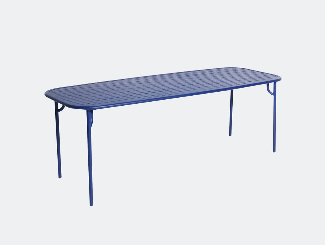 Petite Friture Week end Outdoor Dining Table blue Studio Brichet Ziegler