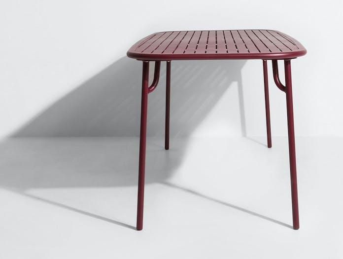 Petite Friture Week end Outdoor Dining Table bordeaux end Studio Brichet Ziegler