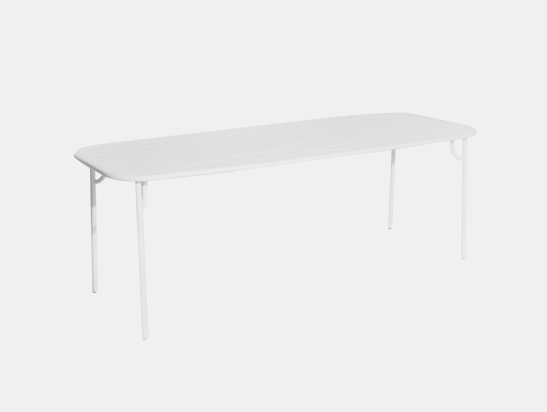 Petite Friture Week end Outdoor Dining Table white Studio Brichet Ziegler