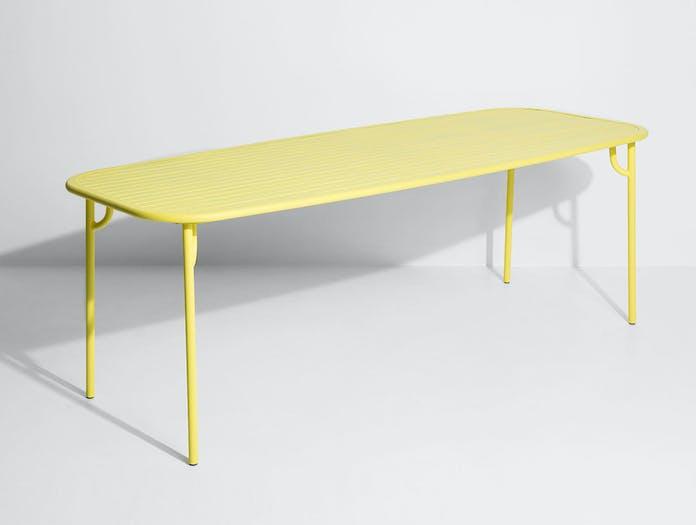 Petite Friture Week end Outdoor Dining Table yellow 4 Studio Brichet Ziegler