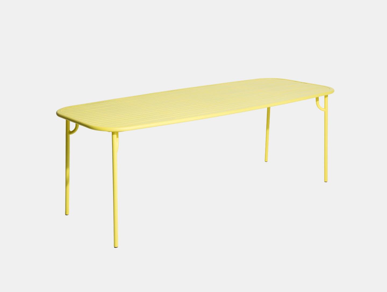 Petite Friture Week end Outdoor Dining Table yellow Studio Brichet Ziegler
