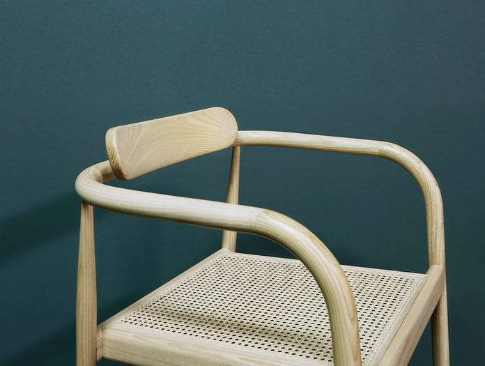 Please Wait To Be Seated Ahm Chair Cane Seat Detail Isabel Ahm
