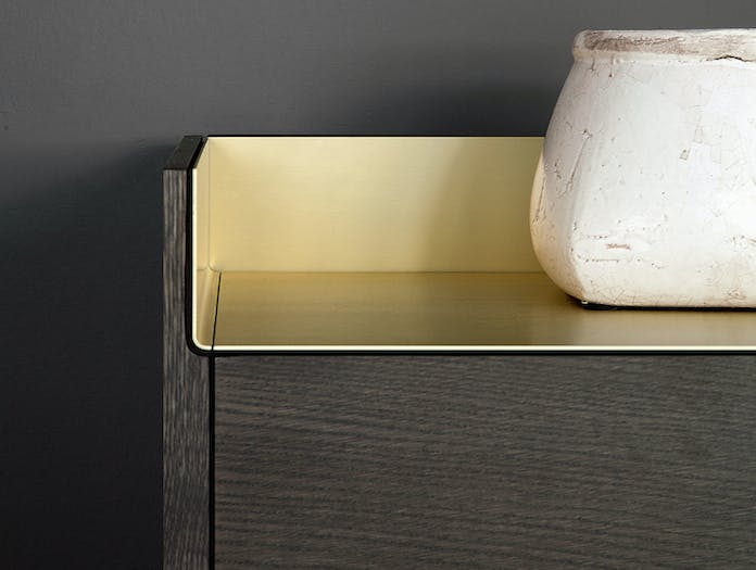 Punt Stockholm Dresser stained oak gold detail Mario Ruiz