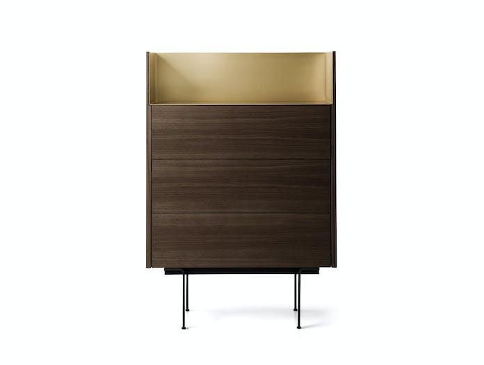Punt Stockholm Dresser walnut gold 2 Mario Ruiz