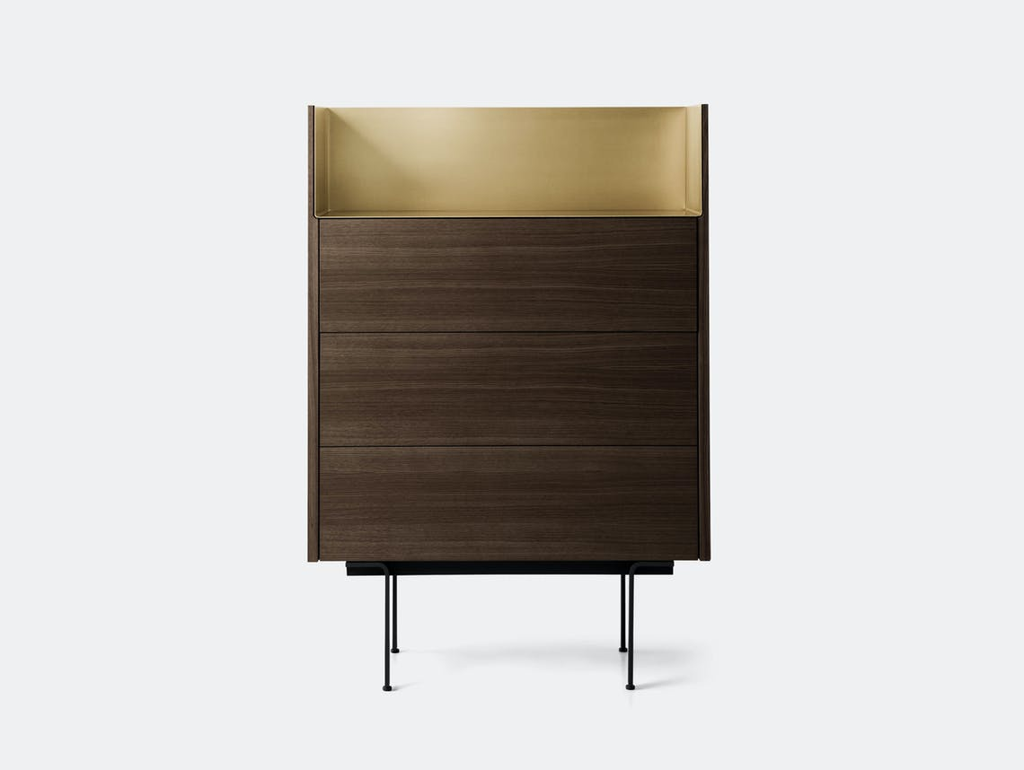 Punt Stockholm Dresser walnut gold Mario Ruiz