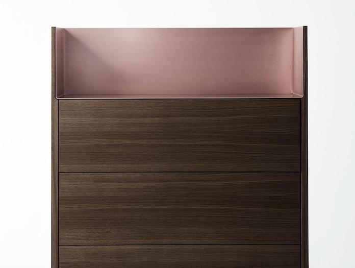 Punt Stockholm Dresser walnut pink detail Mario Ruiz