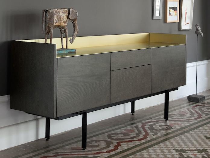 Punt Stockholm Sideboard STH312 grey oak gold top 2 Mario Ruiz